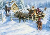 Carte postale de la neige