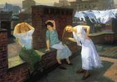 femmes lavant leurs cheveux-sloan