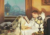 lecture le soir - norman rockwell