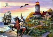 Puzzle phare et pirates