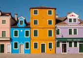 Puzzle Colourful House Facades, Burano,