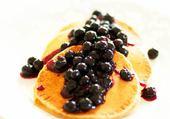 pancakes myrtille