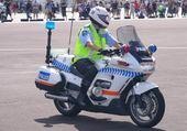 Puzzle moto police