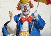 clown sous la pluie