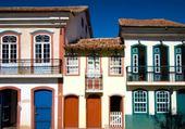 fachadas coloridas - Ouro Preto