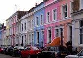 Puzzle Fachadas coloridas - Notting Hill