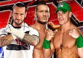 Cm punk Randy orton John Cena