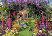 maison en fleure