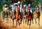 course de chevaux -leonid afremov