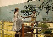 Sur la clôture, H. Winslow 1878