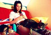 Moi et le petit chat.