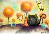 chaton bulles