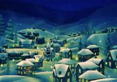 Puzzle village d hiver