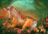 cheval fleuri