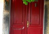 Doors - Red door in Greece
