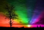 When the sun goes rainbow