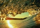 Magnifique vague naturelle