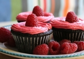 Cupcakes de framboises