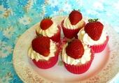 Cupcakes crèmeux au fraise