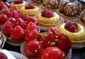 Patisseries à la fraise