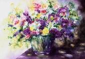 Bouquet de fleurs en art