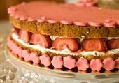 Gâteau glacage de fraise
