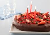 Gâteau choco et fraise