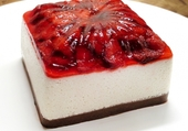 Cheesecake carré de fraise