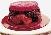 Pudding de fruits rouge