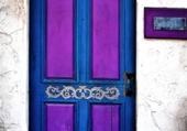 Doors - Bleu & purple door