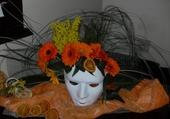 Masque fleuri