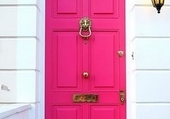 Doors - Bright pink front door