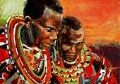 Afrique - Deux hommes masai