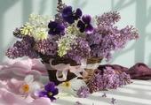 Puzzle joli bouquet de lilas