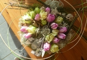 Composition avec tulipes