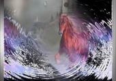 Puzzle cheval dans la vague