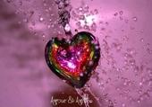 Puzzle coeur multicolore