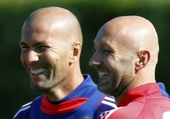 Fabien Barthez et Zinédine Zidane