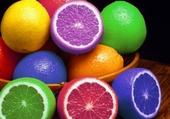 Citrons colorés