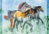 Le galop des chevaux