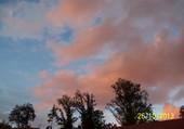 ciel de soleil couchant
