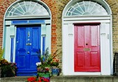 Puzzle Doors - Red & blue