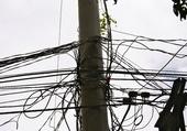Poteau électrique aux Philippines