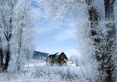 Puzzle Fermette en hiver