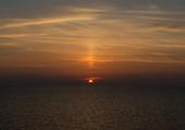 Coucher de soleil central