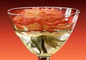 Rose dans verre