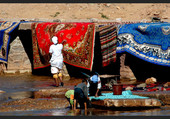 Lavage et sechage de Tapis coloré