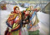 trois femmes dans la neige