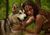 le loup et l'indienne