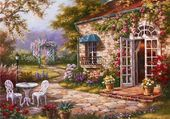 Spring Patio by Sung Kim